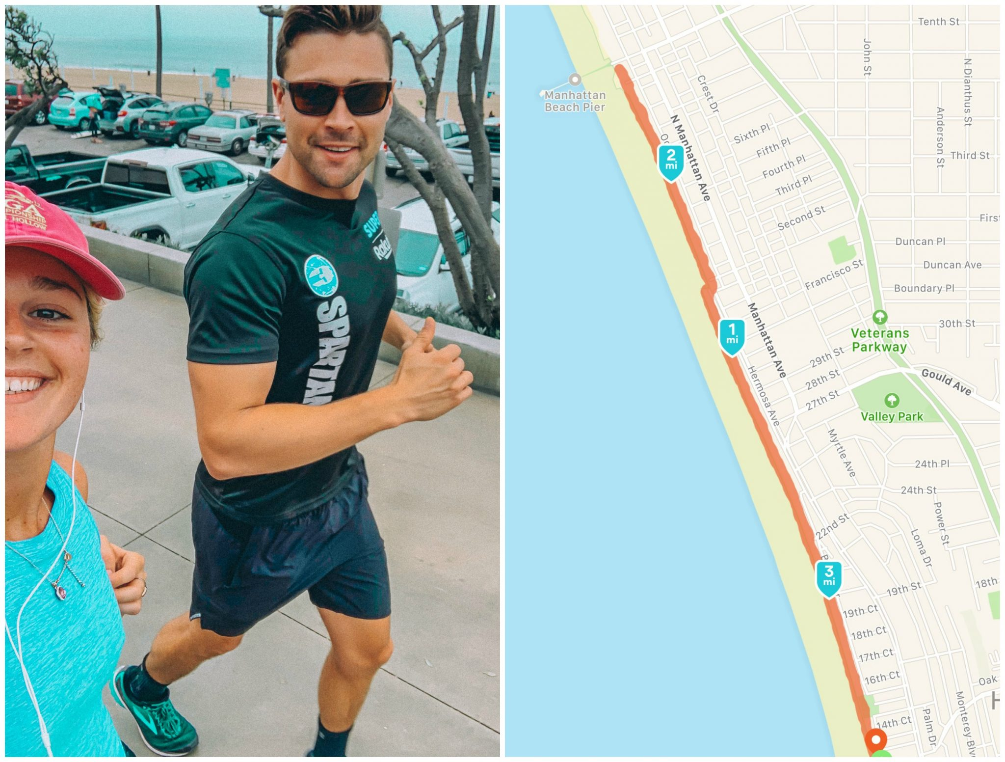 hermosa beach run, four miles with my brother, running four miles, run, exercise, recap post, lifestyle, beach, sand, beach run, new balance, asics, recap posts, blogger, travel, family