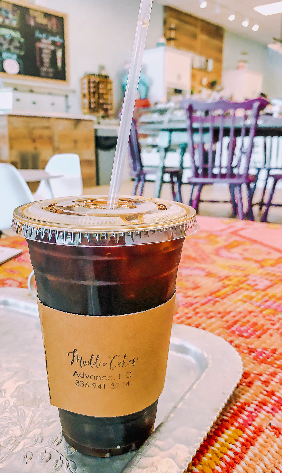 Maddie cakes, Winston Salem, north Carolina, iced coffee, cafe, bakery, cute , north Carolina