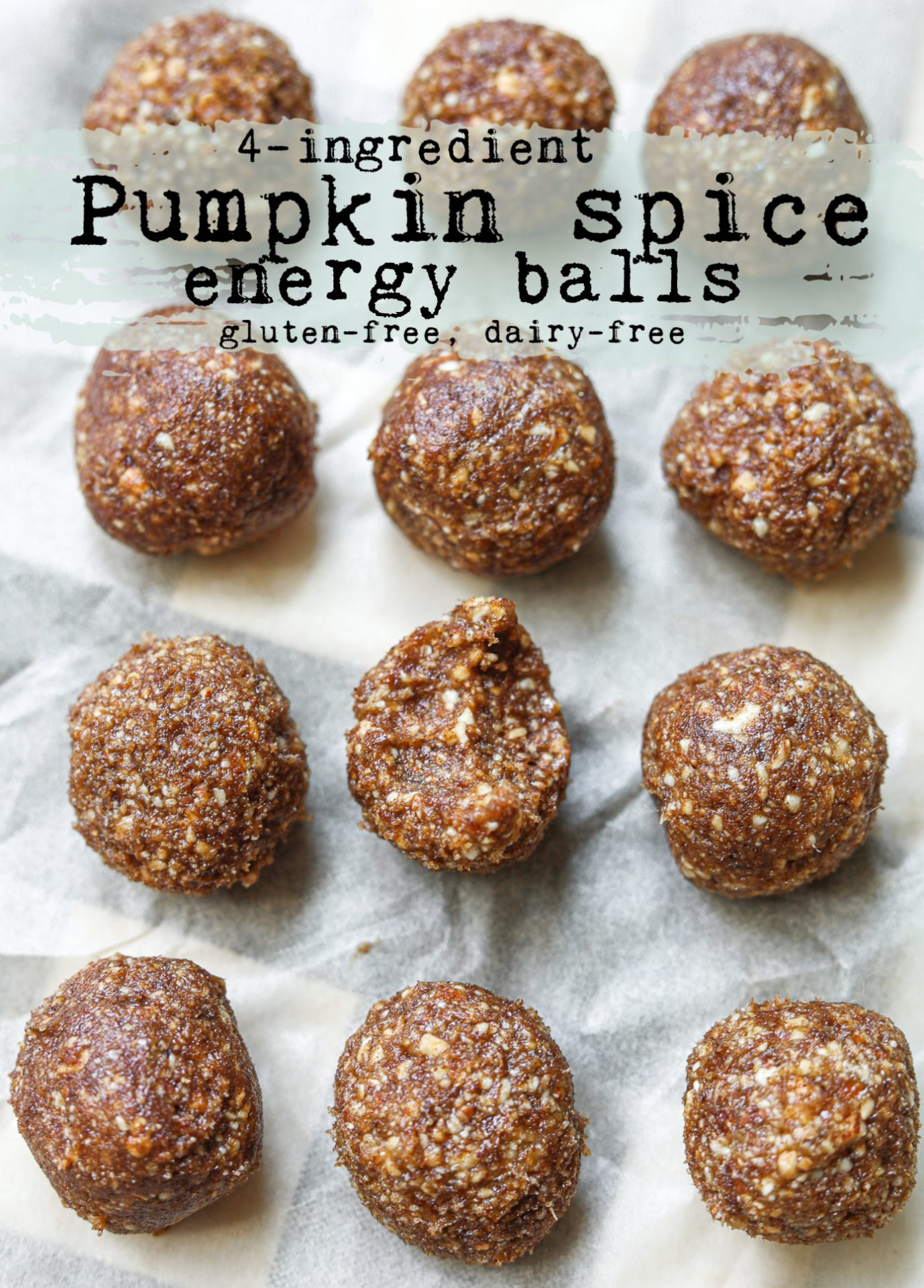 pumpkin spice, energy balls, nuts, almonds, cashews, recipe, vegan, gluten free, dairy free, paleo, raw cashews, whole30, raw vegan, dates, healthy snacking, pumpkin spice recipes, fall, four-ingredients, nut balls, protein