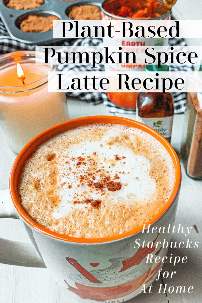 Healthy Vegan Starbuck's Pumpkin Spice Latte Recipe 🎃