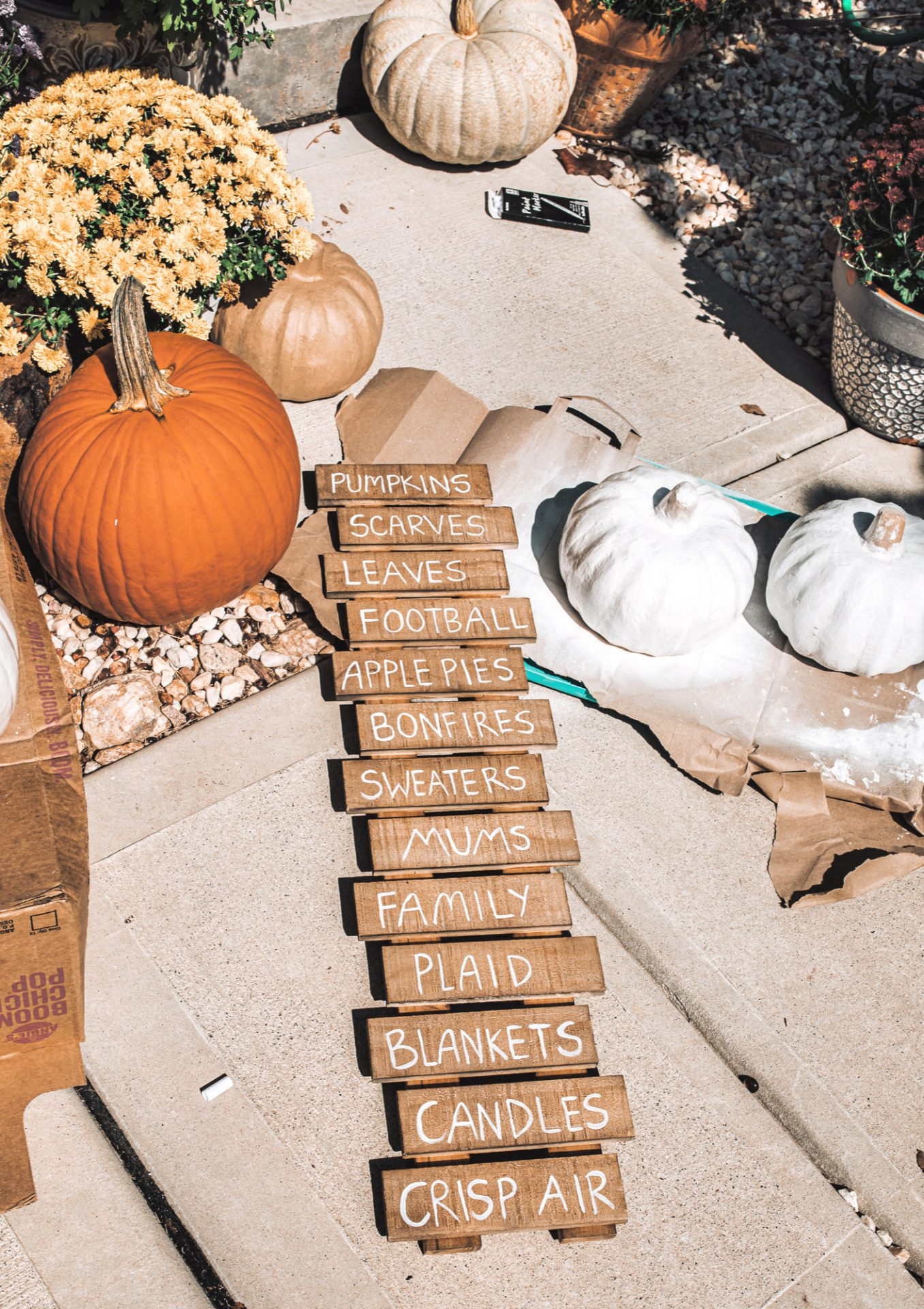 fall sign diy