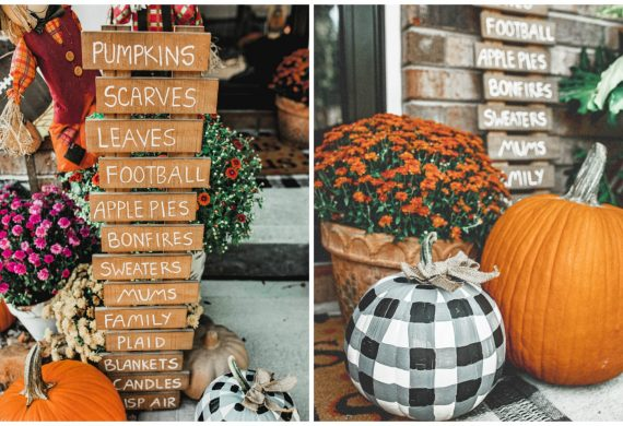 plaid pumpkin, gingham pumpkin, painting pumpkins, pumpkin, black and white, decor, diy fall,