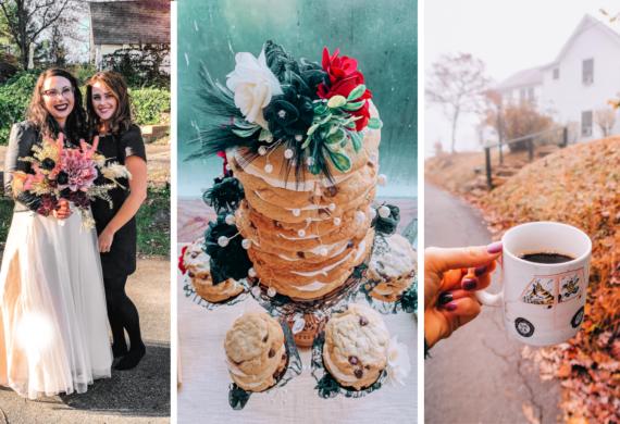 wedding, brevard, Pisgah forest, best friend, wedding, Beccas wedding, bed and breakfast, fall, halloween, weekend, life, fun, cookies, cookie cake, decor