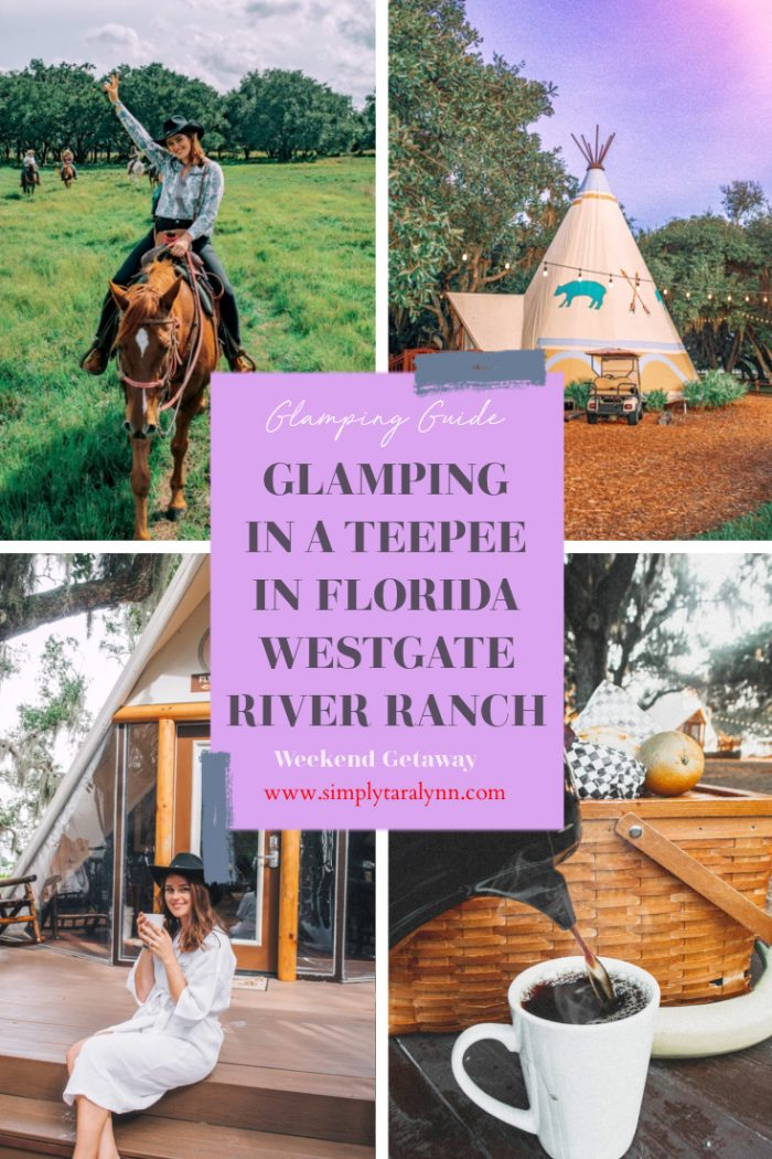 Glamping in a Teepee at Westgate River Ranch, Florida!