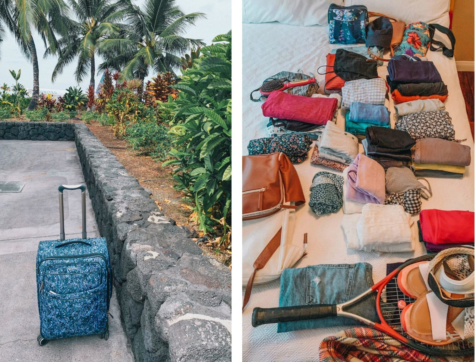 traveling to hawaii, packing, home