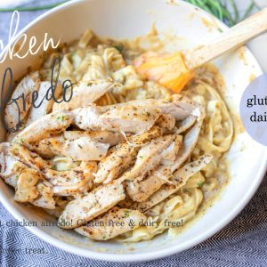 healthy fettuccini Alfredo, dairy free, gluten free, low carb, chicken, dinner, easy, the best fettuccine recipe, dairy free fettuccine, gluten free and dairy free fettuccine