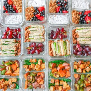 Budget-Friendly Meal Prep Guide: Gluten-Free, Dairy-Free, Berry Parfaits, Tuna & Chickpea Sandwiches & Sesame Tofu Pad Thai!