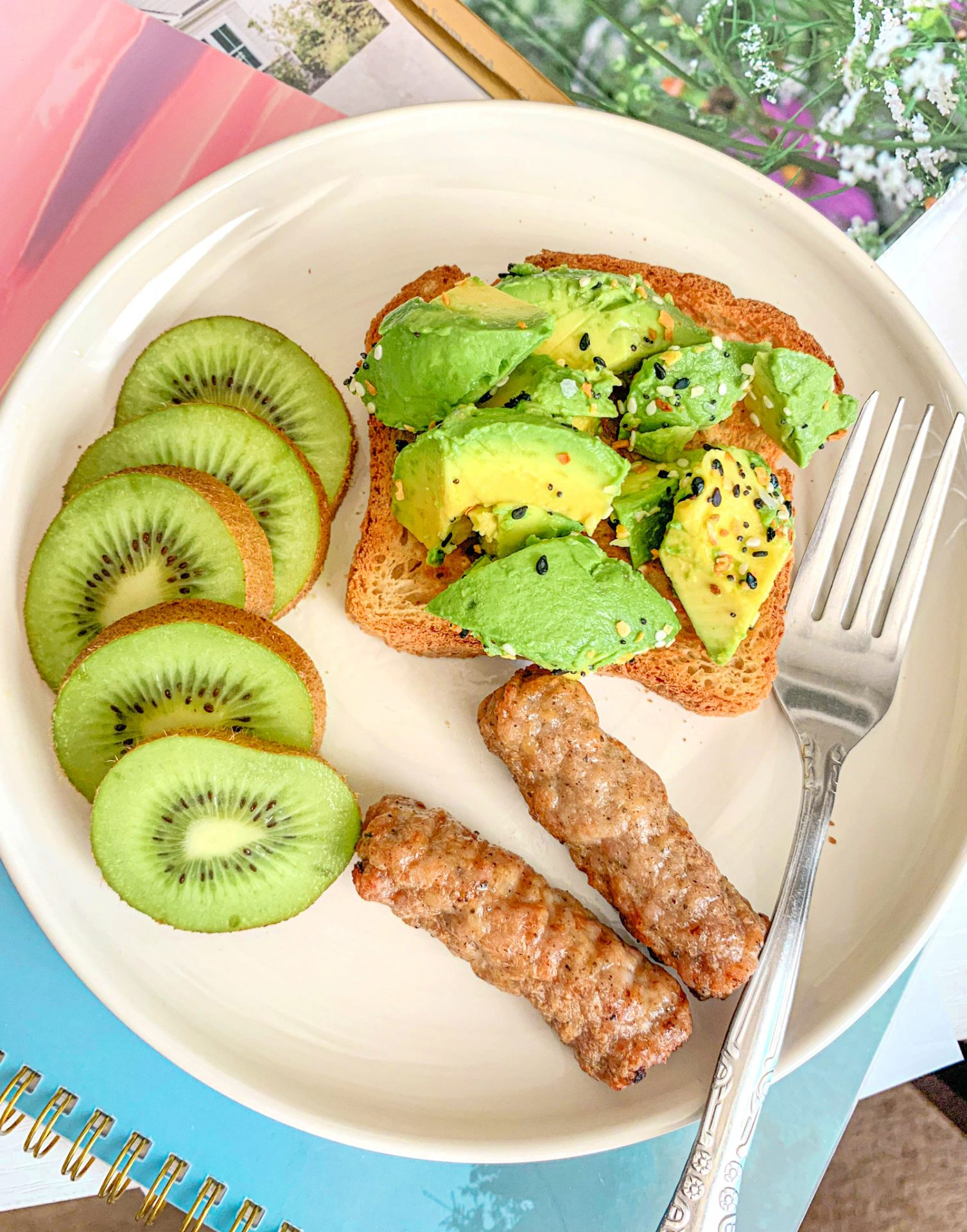 applegate chicken maple sausage with gluten-free avocado toast