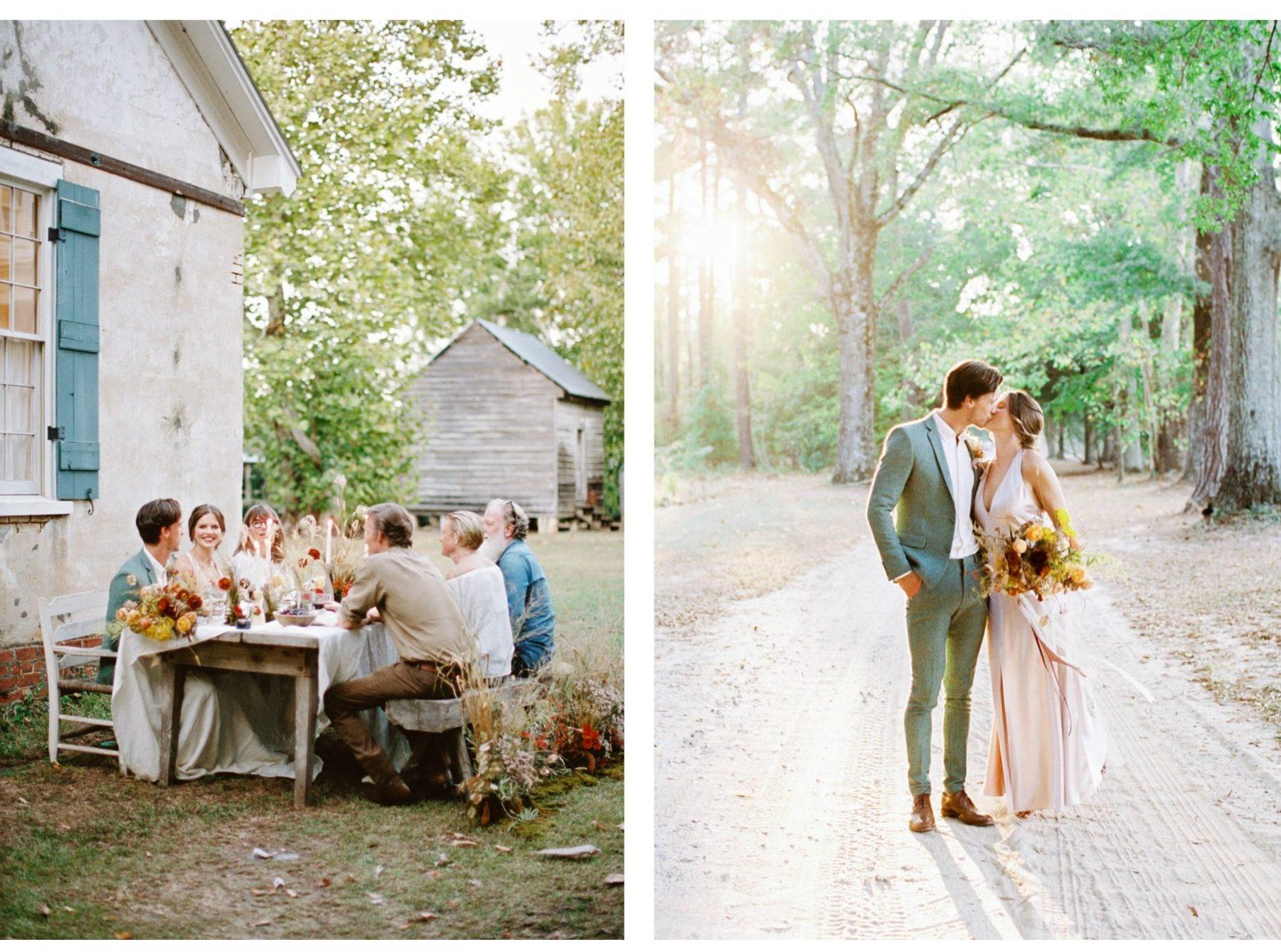 Fall Elopement Wedding at South Carolinas Wavering Place