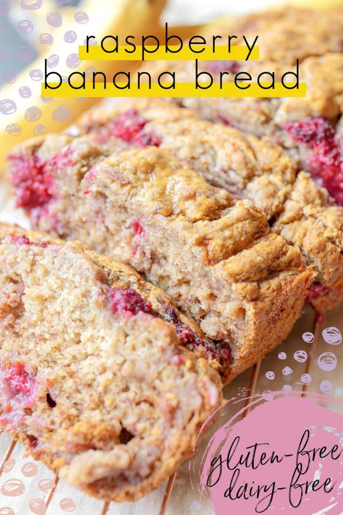 Raspberry Banana Bread – Gluten Free & Dairy Free!