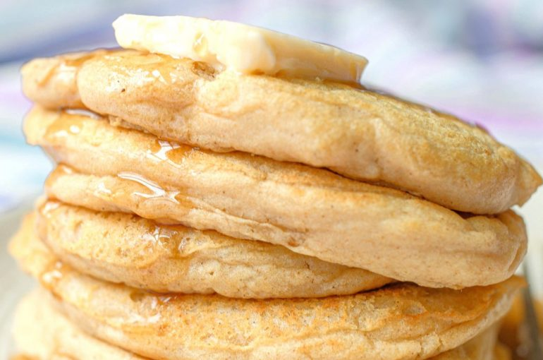 healthy homemade gluten free fluffy pancakes dairy free delicious breakfast recipe
