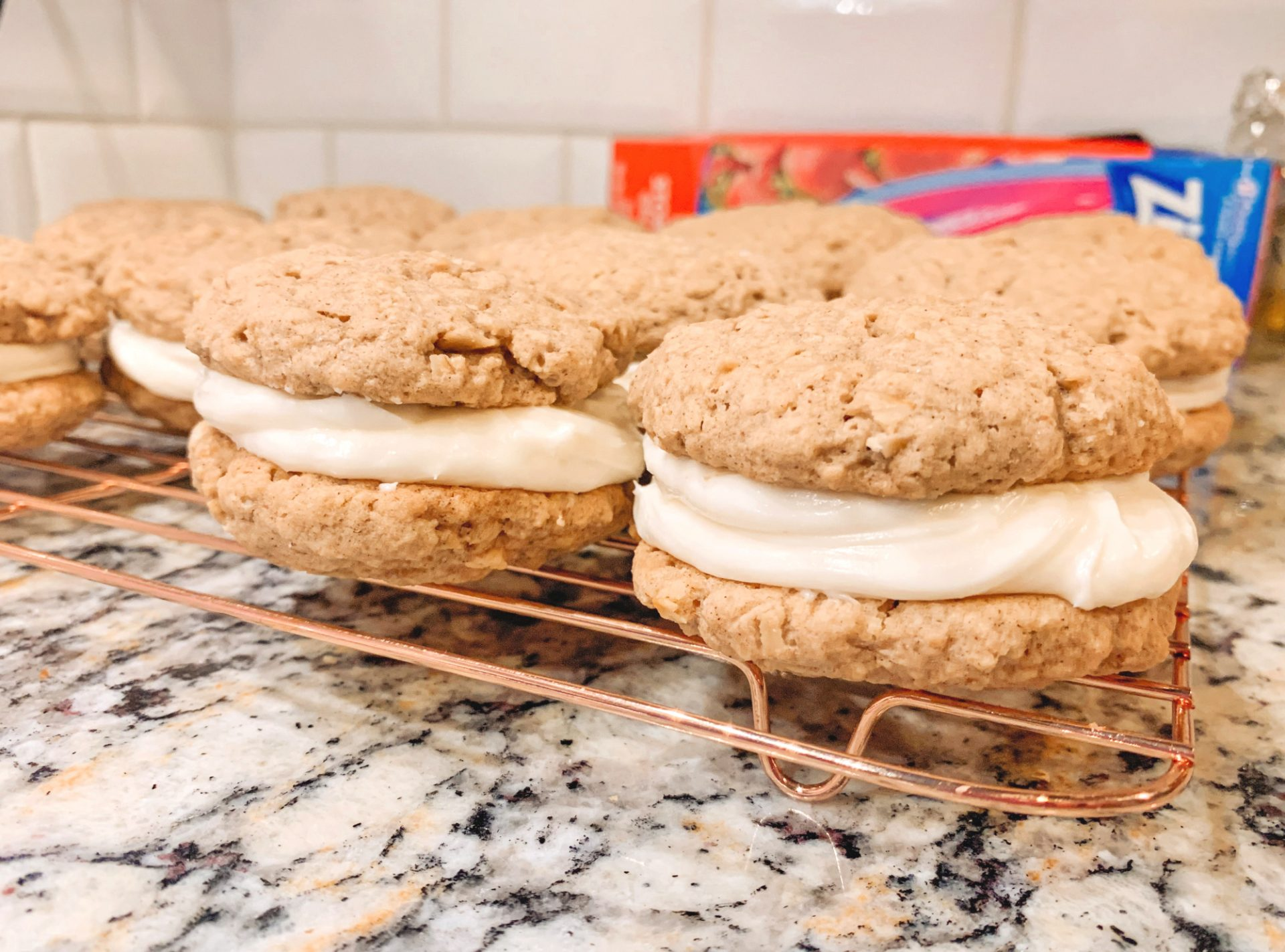 oatmeal cream pies, gluten free, dairy free, delicious cookies