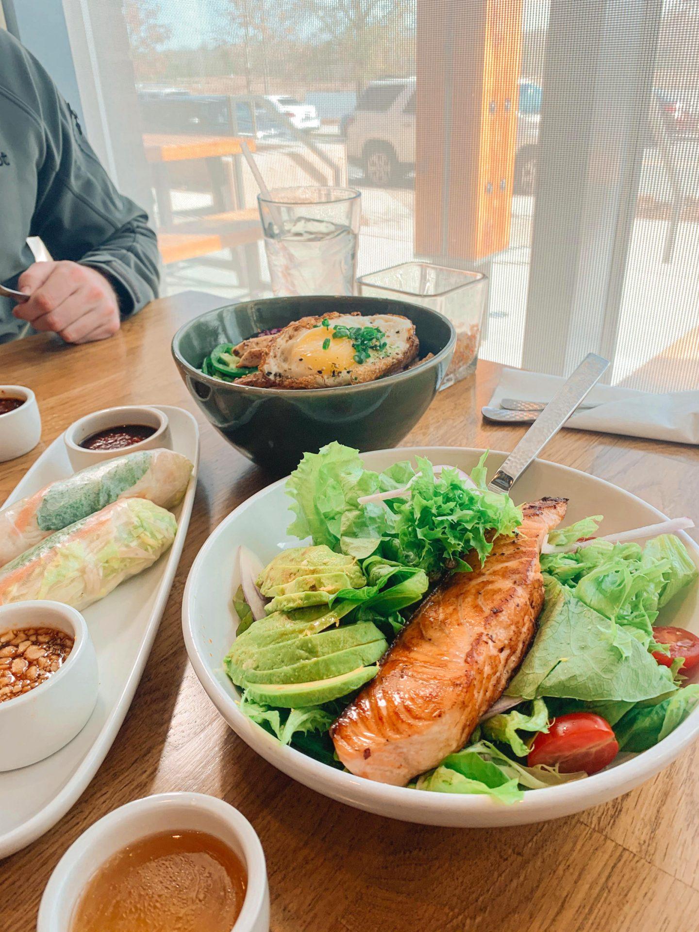 Kingsley, spice, fort mill, South Carolina, restaurant, salmon salad, healthy eating