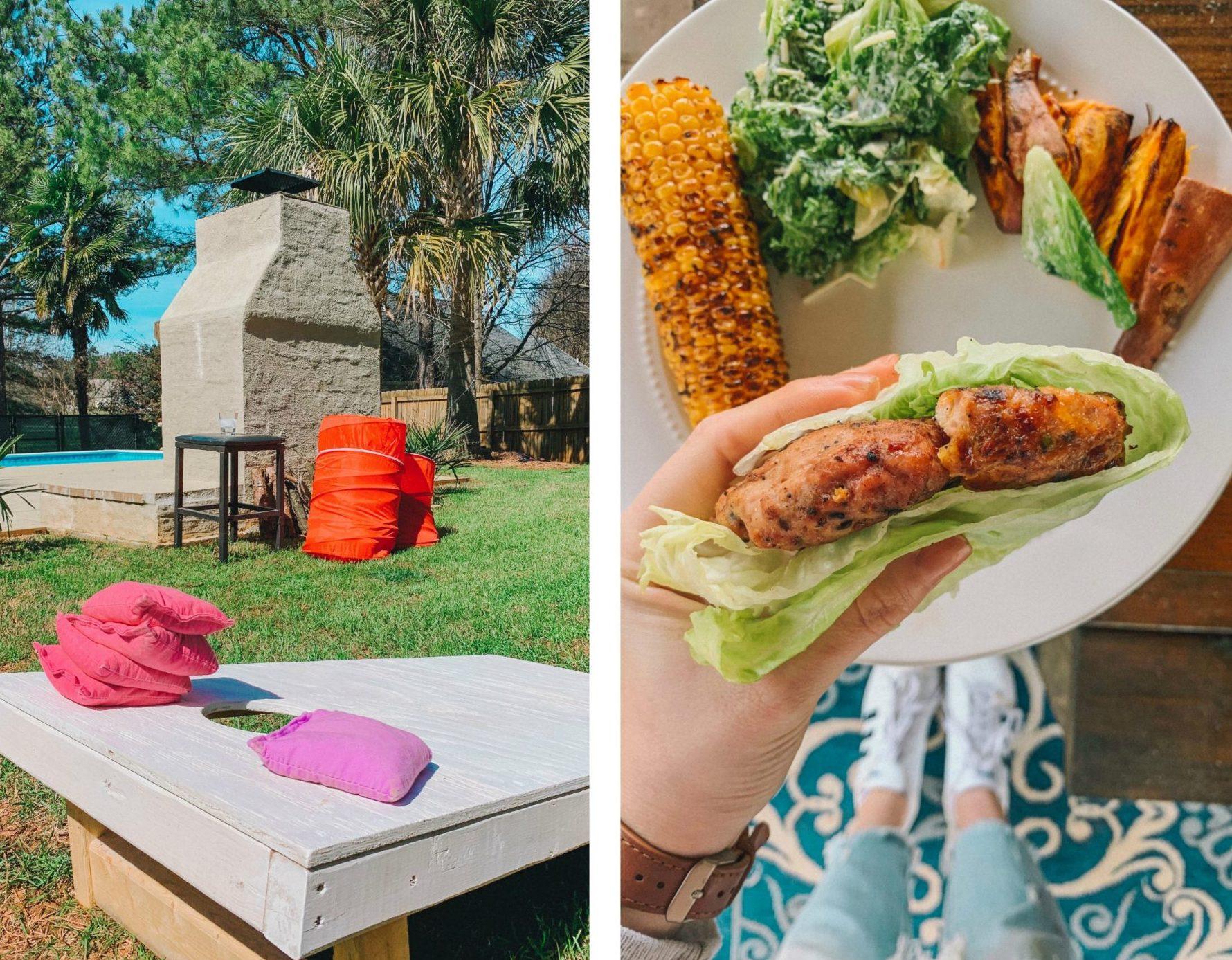 spring bbq, springtime, turkey jalapeño burgers, sweet corn, aioli, healthy food, turkey lettuce wraps, on the grill, gluten free