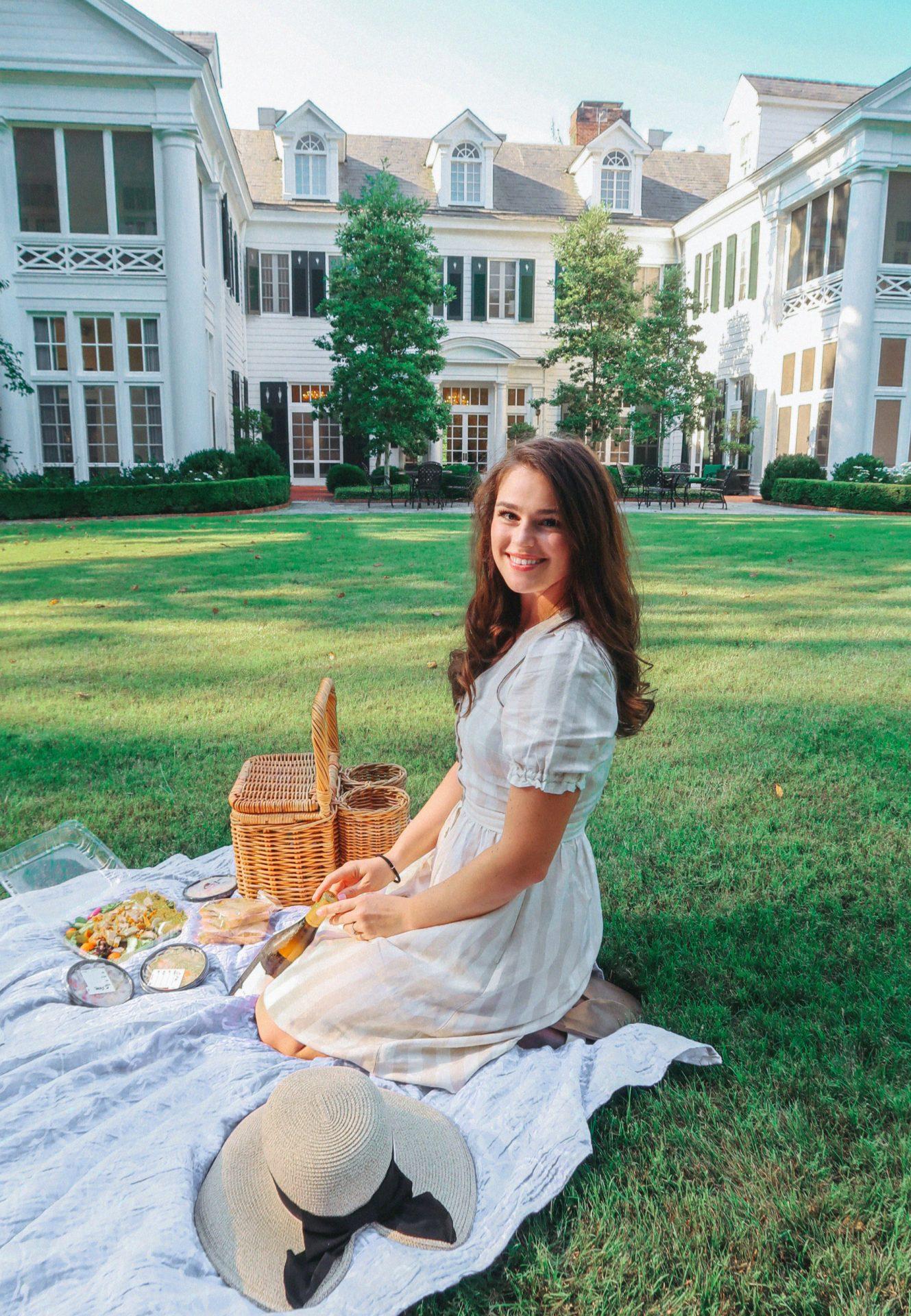duke mansion, picnic, Charlotte, Charlotte nc, Queen City, duke mansion picnic, summer, gardens, duke mansion gardens, date night in Charlotte, lifestyle blog, travel Charlotte