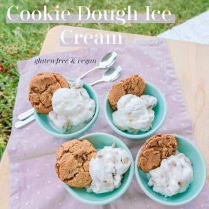homemade ice cream, vegan, plant based, cookie dough, gluten free, ice cream, dessert, healthy food, cookies, coconut milk, vanilla, homemade , ice cream maker, chocolate chip cookie dough