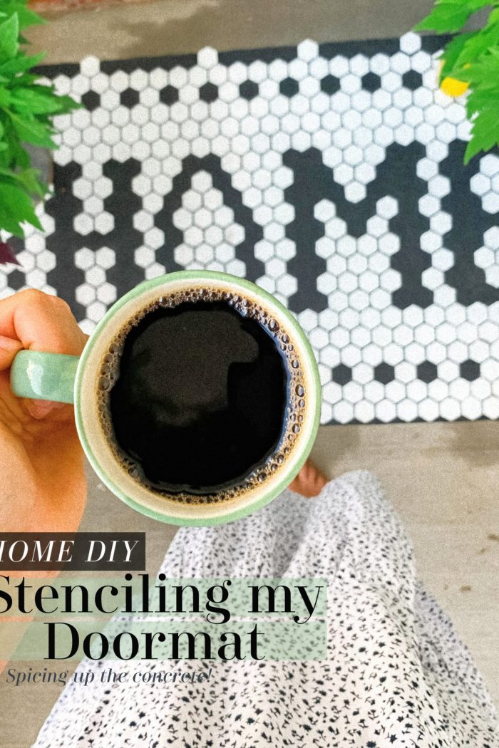 I Stenciled My Doormat on the Front Porch | Painting Tutorial