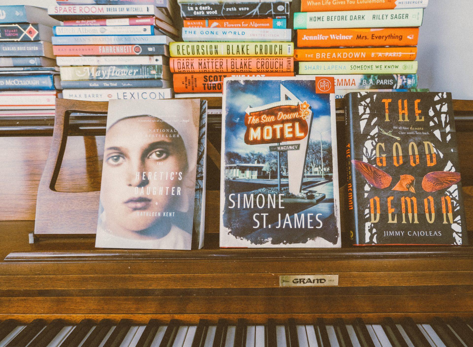 book club, October book club, the good demon, heretics daughter, sundown motel, halloween, spooky reads, book club for fun, free book club
