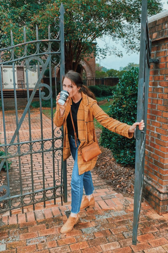 Saturday Morning Coffee & A Comfy Fall Look.