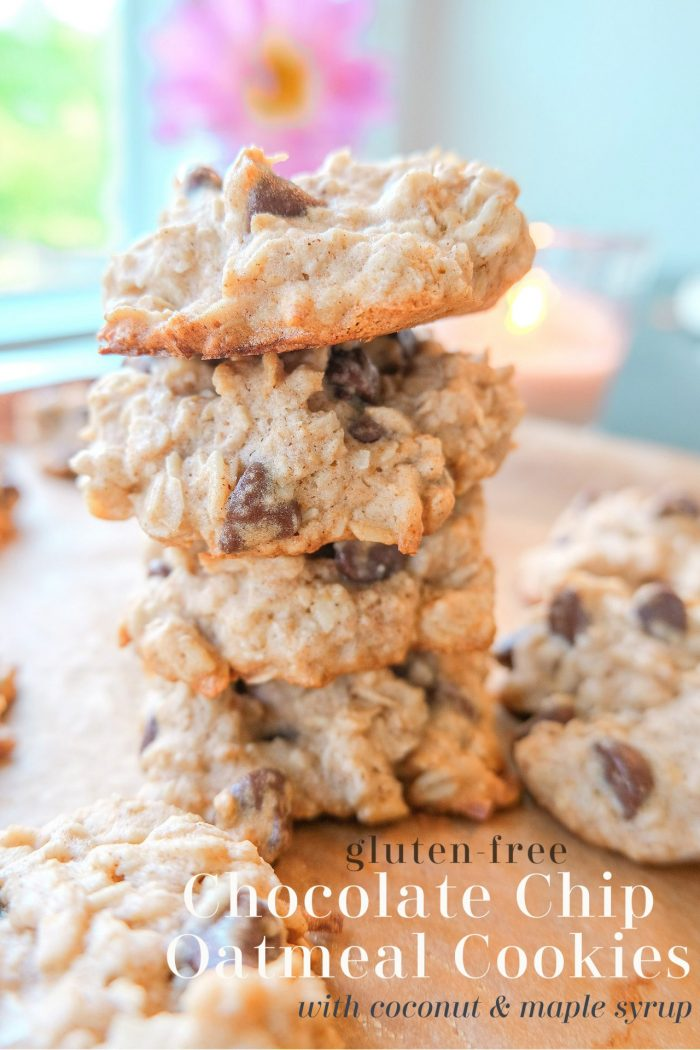 Oatmeal Chocolate Chip Cookies with Coconut & Maple Syrup