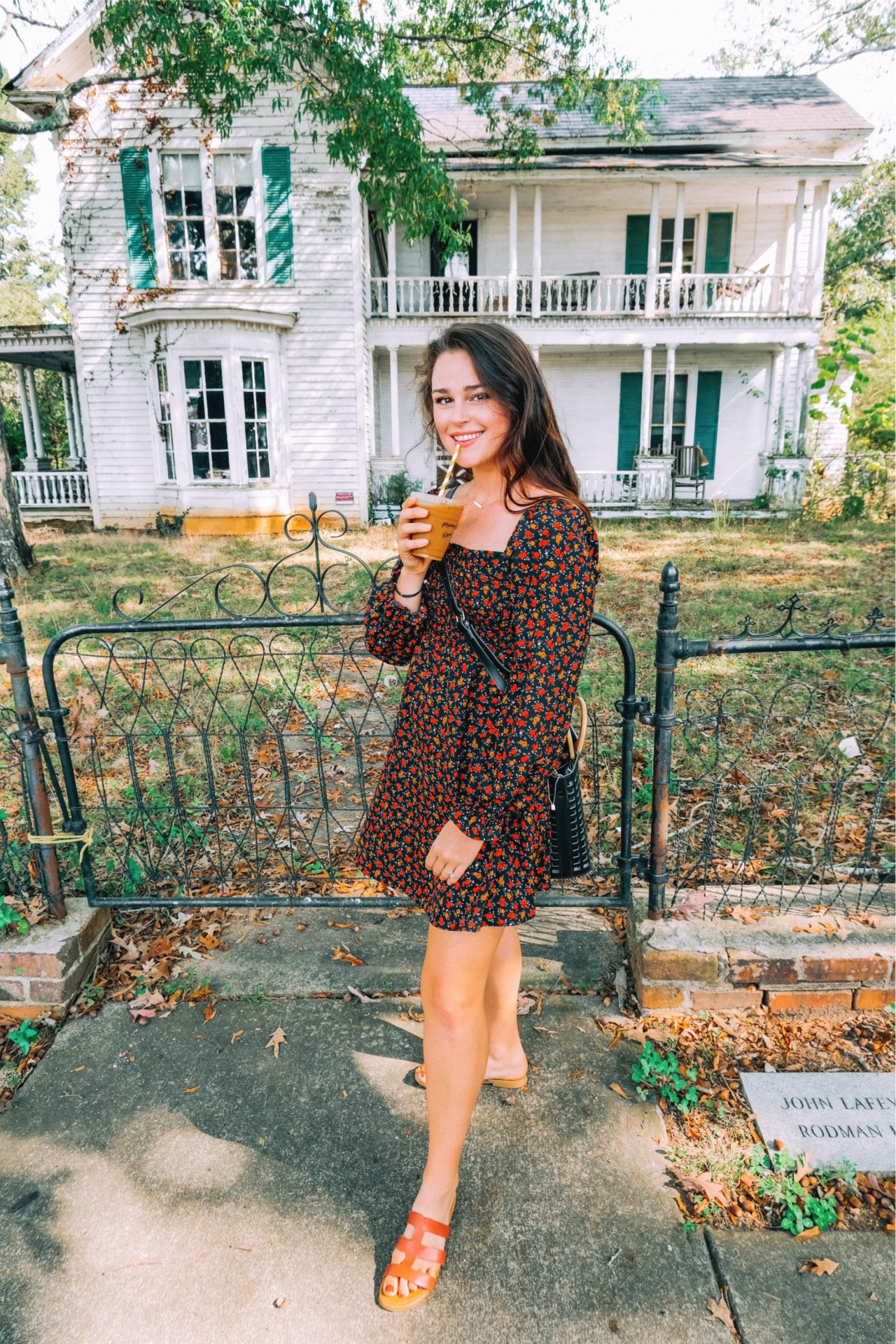 Waxhaw date, rose dress, fall in the south, coffee, provision, Waxhaw date, fun day, life, October, haunted house, halloween fall fashion