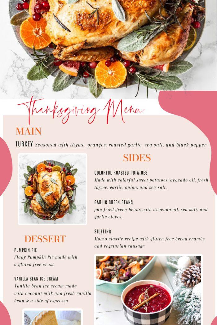 My 2020 Thanksgiving Menu + Planning Printables!