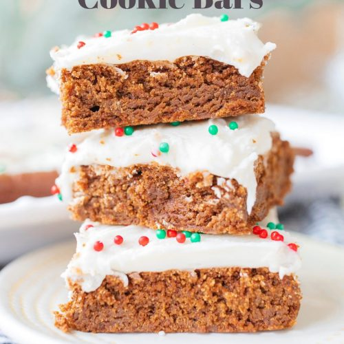 gingerbread, gingerbread cookies, gingerbread bars, gluten free, gluten free gingerbread, healthy, Christmas cookies, holiday cookies, gingerbread, cream cheese frosting, dairy free, cream cheese icing, cream cheese frosting, party