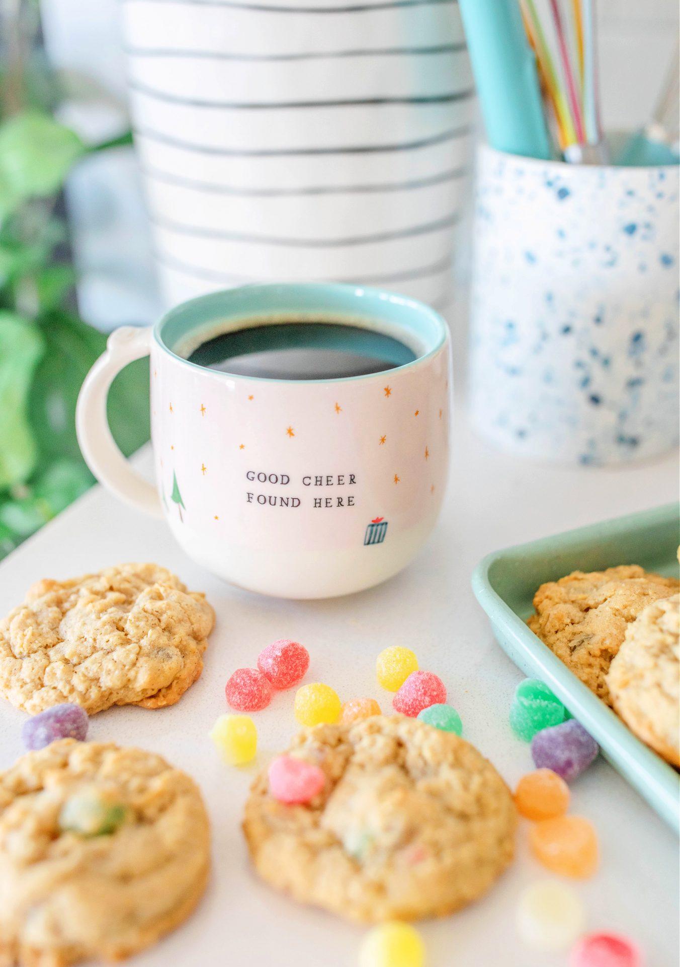 Grandpas gumdrop cookies, oatmeal cookies, spice drops, gumdrops, cookies, christmas cookies, delicious, baking, gluten-free,