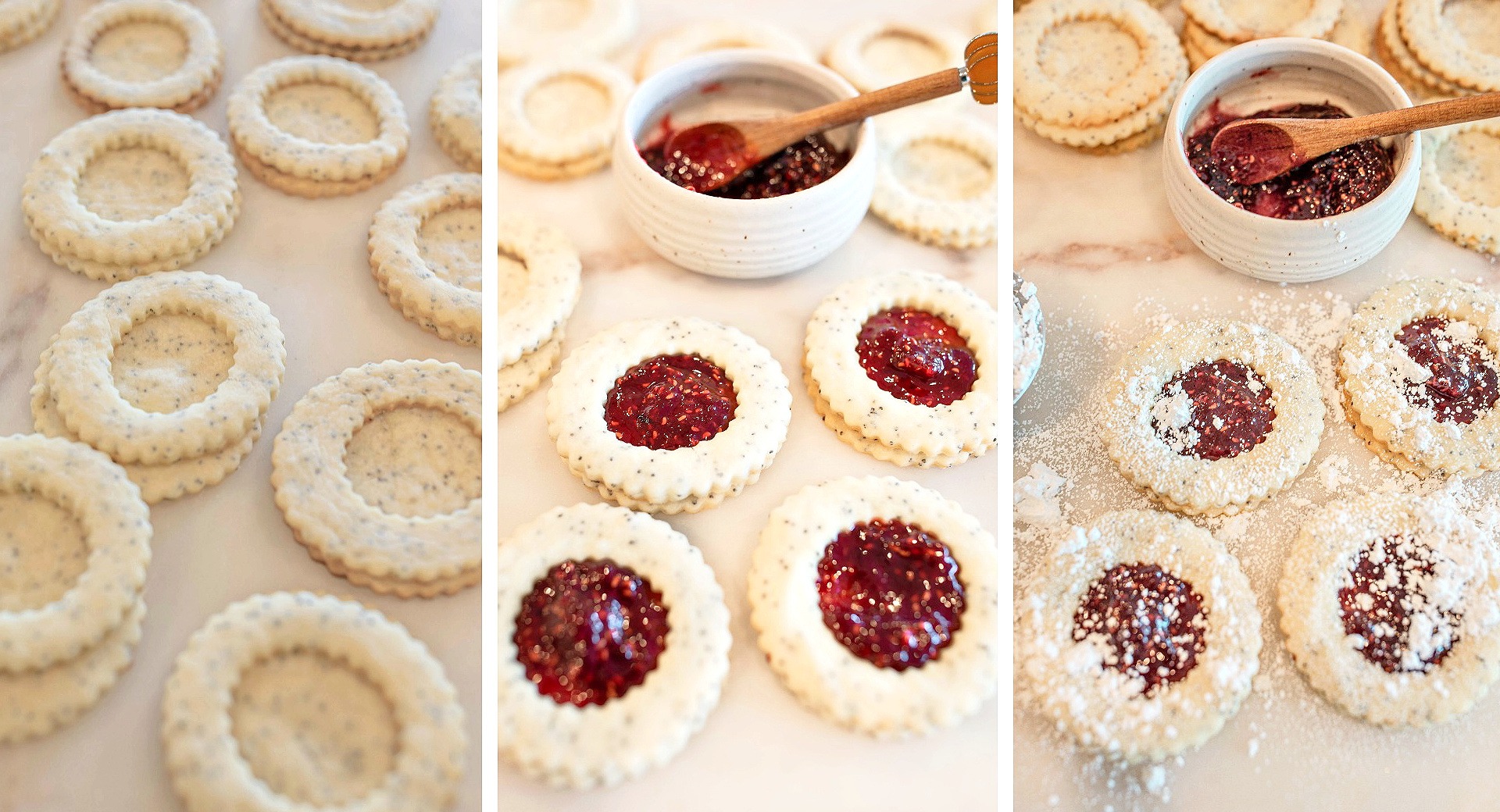 lemon poppy seed, lemon linzer cookies, shortbread cookies, vegan, dairy-free, lemon shortbread cookies, baking