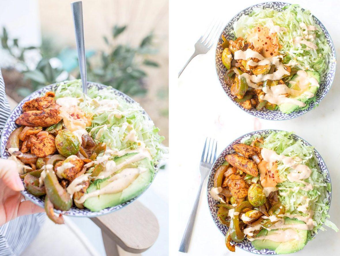 keto fajita salads, chicken fajita, fajitas, chicken, low carb dinner, low carb fajitas, keto bowls, chicken bowls, dinner, recipes, chicken fajitas, gluten-free