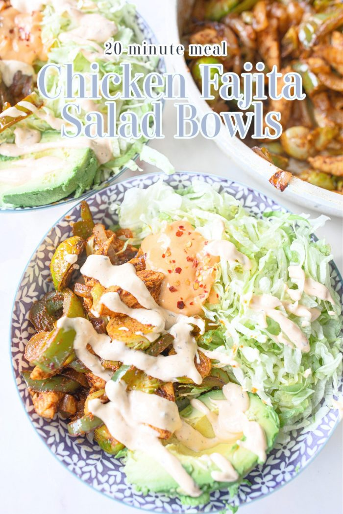Chicken Fajita Salad Bowls | Healthy 20-Minute Dinner Idea