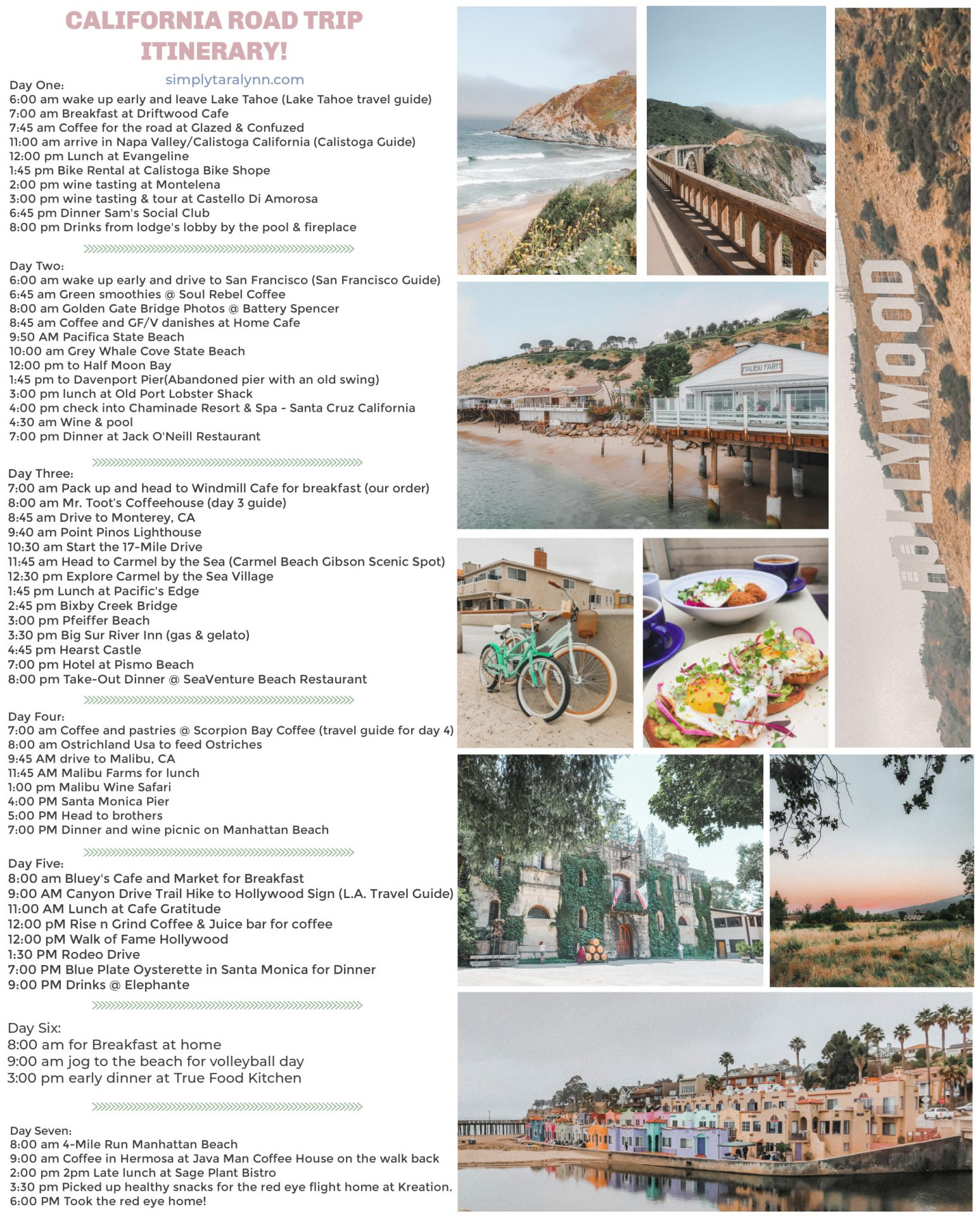 The ultimate California coast road trip, travel the coast of California, travel guide, California coast, traveling, highway 1, pacific coast highway, Napa, where to stay, where to eat, cliffs