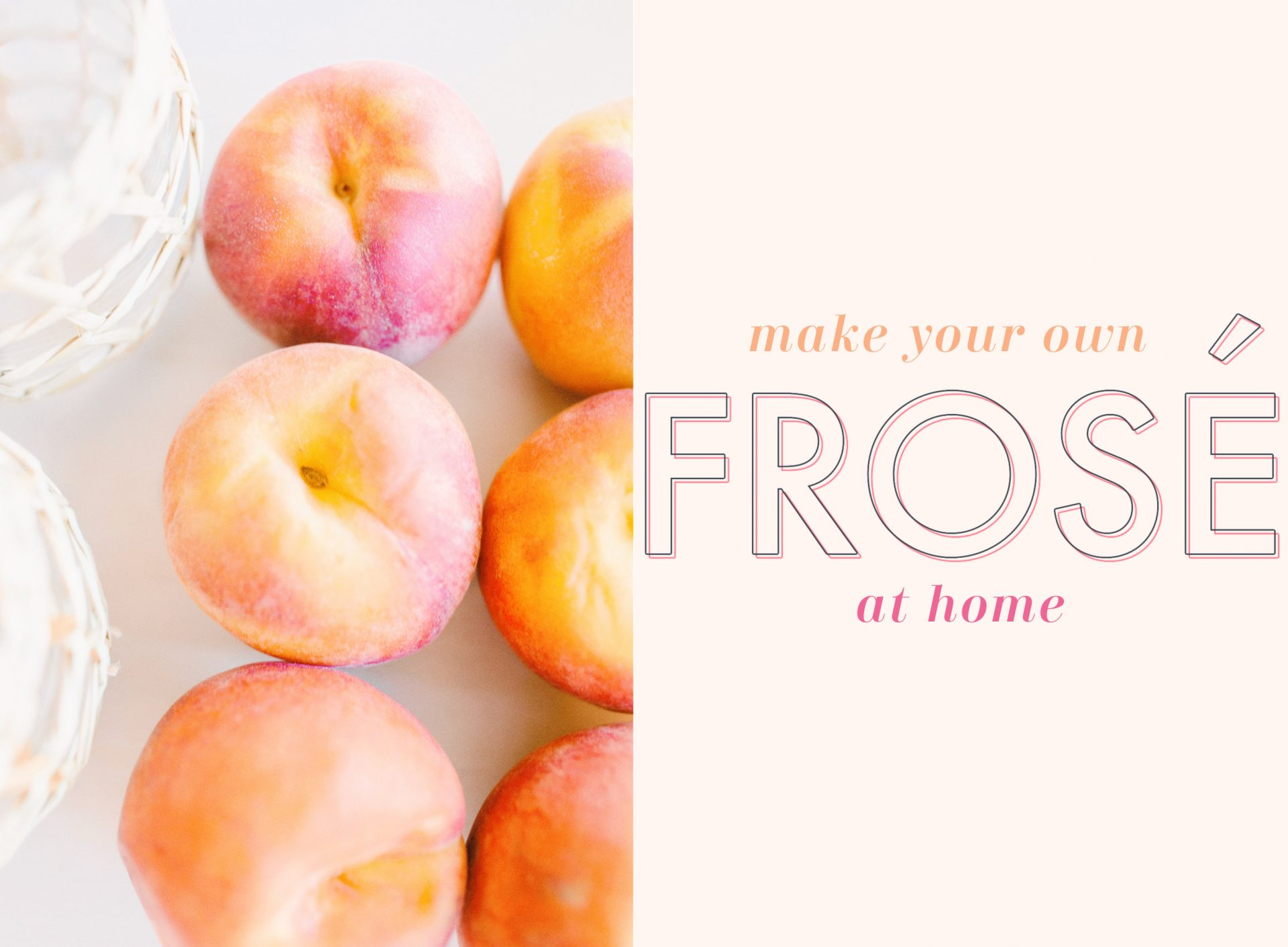 frose, rose, peaches, lemon, mango, frozen rose, frozen drinks, Ava grace, summer, spring, refreshing, party drinks, at home frose, frozen alcoholic beverage, ice cream maker