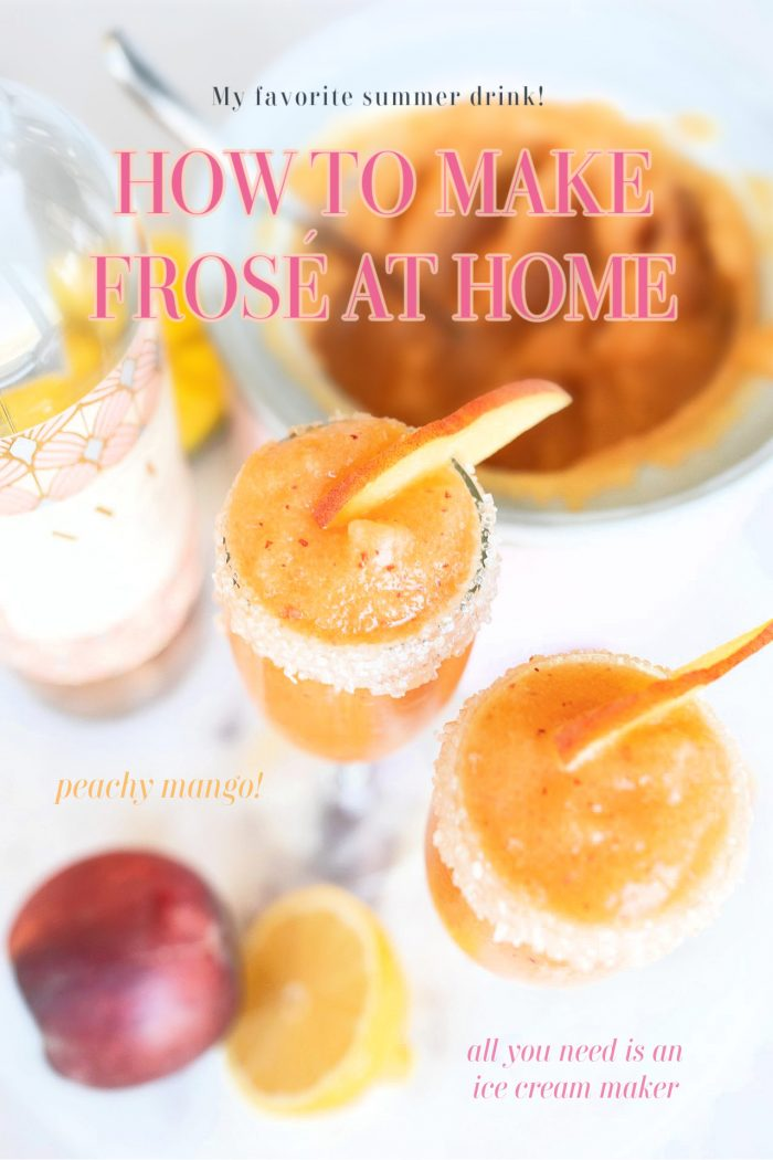 How to Make Frosé At Home | Refreshing Peachy Mango Frosé