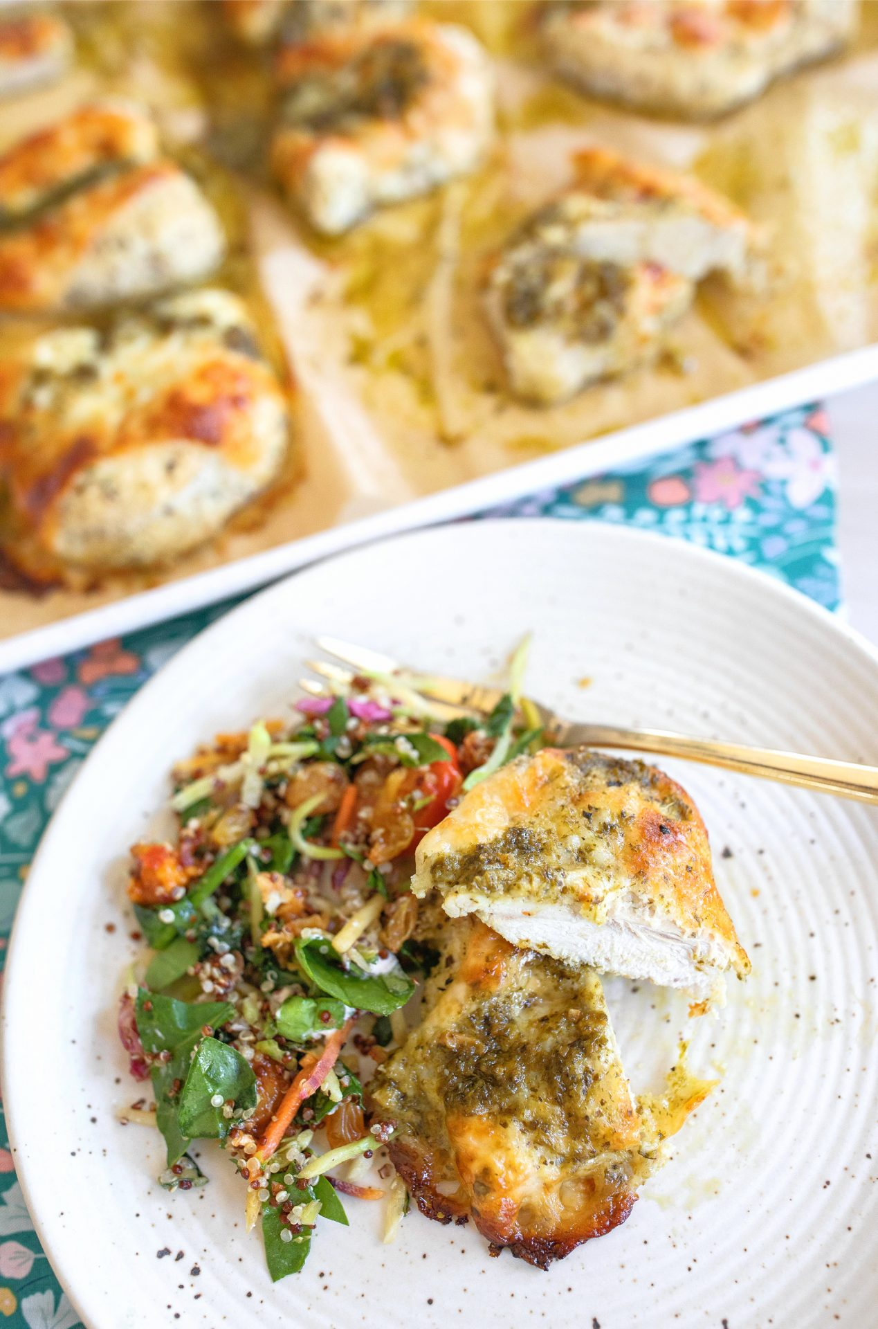 chicken, pesto, low carb, almond flour, breaded, dinner, gluten-free, baked chicken, low carb, keto, chicken parmesan, chicken pesto, roasted, easy dinner recipe