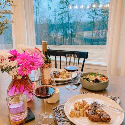 valentines day, steak dinner, cook for me, romantic dinner, valentine