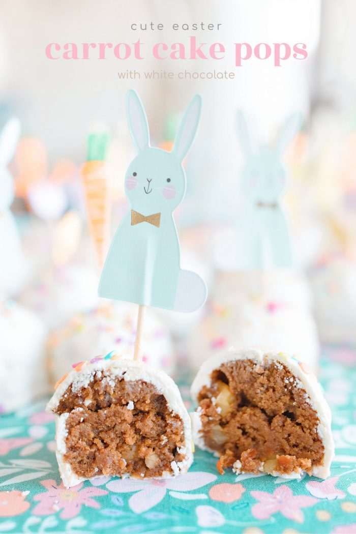 Happy Spring Carrot Cake Pops with White Chocolate 🥕🐰