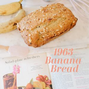 better homes and gardens 1963 cookbook, barbecues and picnics, porch suppers, and picnics, recipe, banana bread, Hawaiian, Kona, vintage, recipe