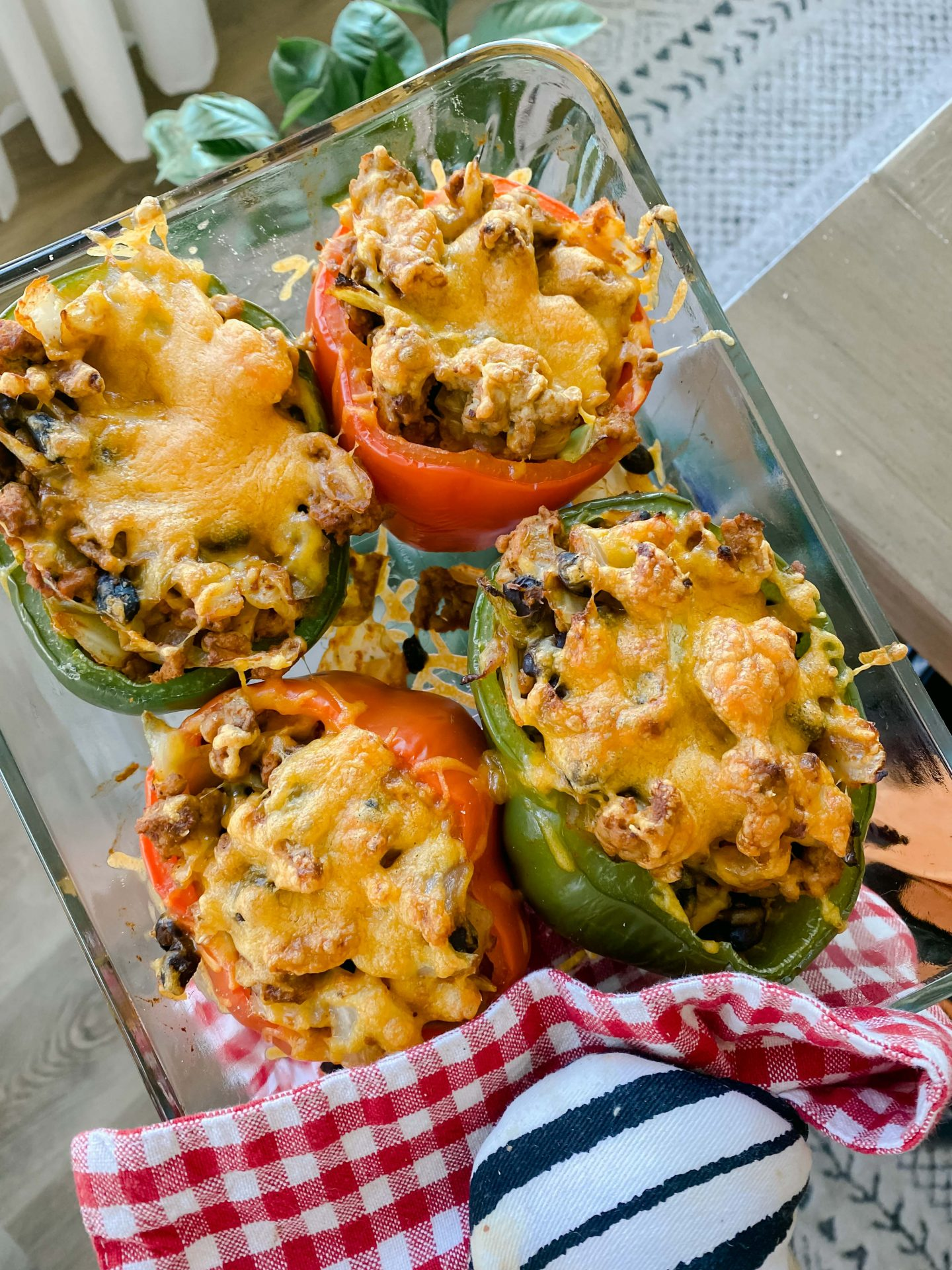 stuffed bell peppers, healthy, cabbage, black beans turkey, healthy