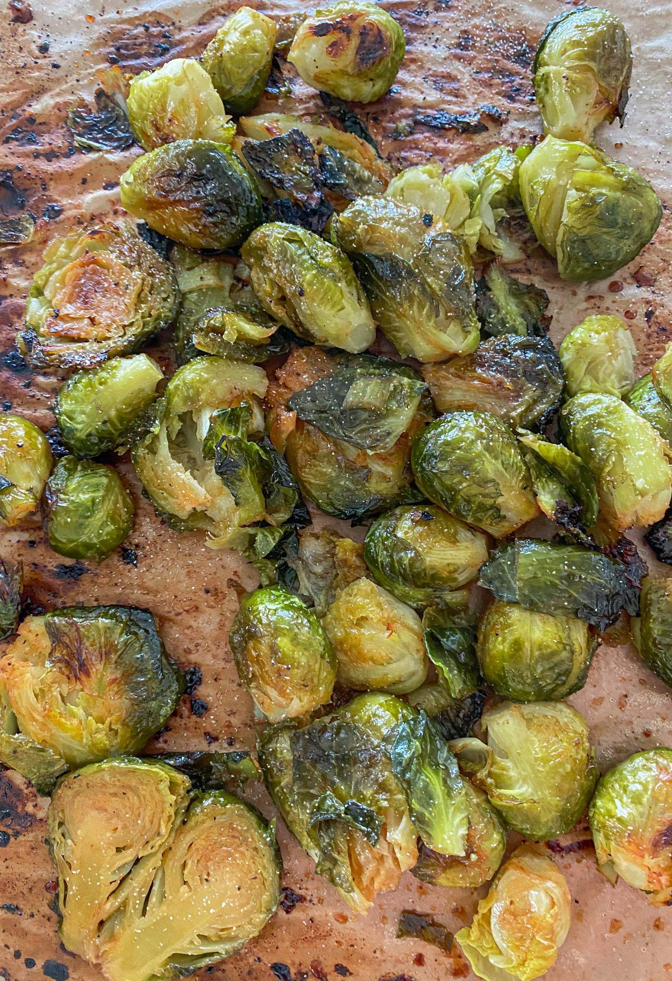 crispy healthy Brussels sprouts tiktok recipe