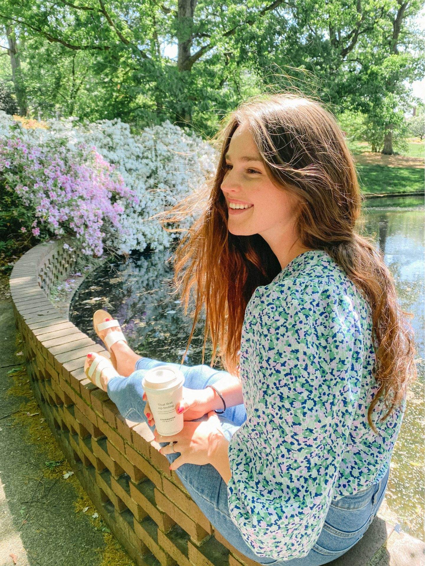 park, rock hill, Glencairn gardens, Winthrop, south Carolina, fort mill, azaleas, flowers, target top, lifestyle blogger, taralynn, mcnitt, life, coffee, almond milk latte, south, North Carolina