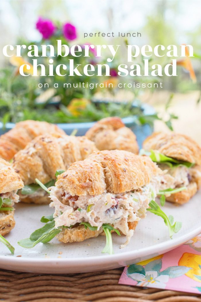 Cranberry Pecan Chicken Salad on a Multigrain Croissant
