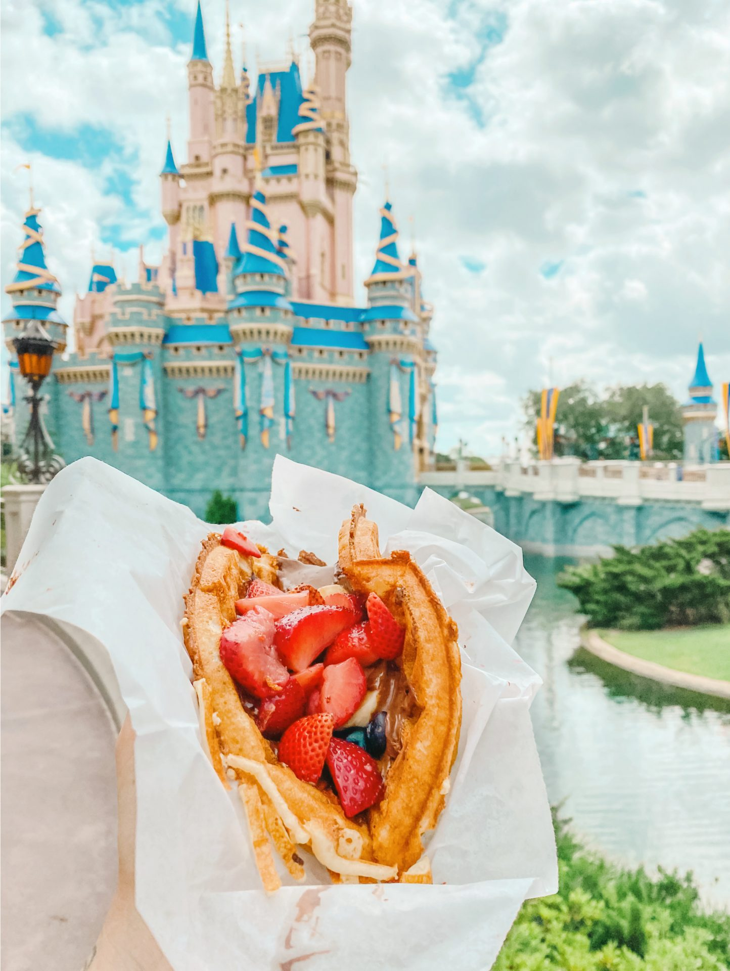 walt disney world, what to eat 2021, magic kingdom, sleepy hollow, Nutella fruit waffle, best food at disney, magic king doom food, disney travel blog, best disney, ultimate guide to disney