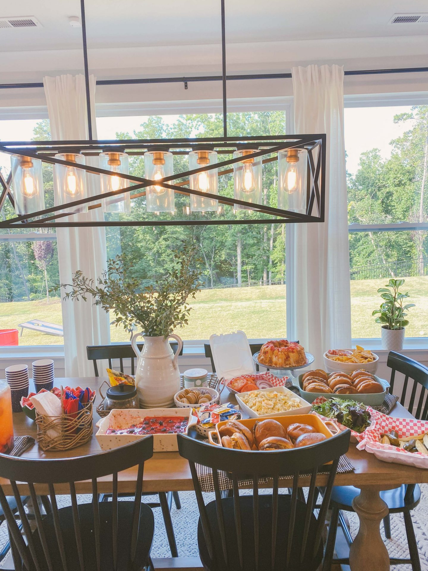 4th of July party, 4th of july spread