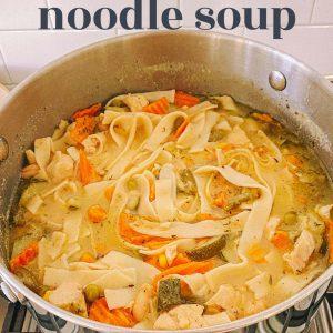 chicken noodle soup, gluten free, brown rice noodles, egg noodles, easy chicken noodle soup, healthy chicken noodle soup, best dinner